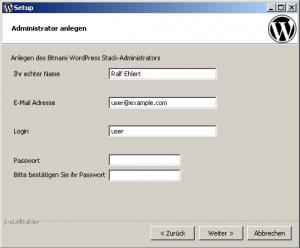 Bitnami setup admin 300x248